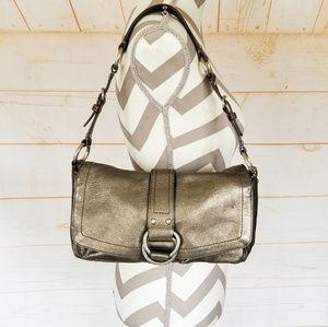 Coach Hobo Shoulder Bag Purse Metallic